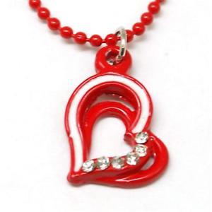 【送料無料】ネックレス コレクションエナメルボールチェーンハートthe olivia collection enfant maill pendentif amp; 406cm ball chain coeur rouge