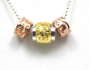 【送料無料】ネックレス シルバーハワイアンプルメリアイエローダブルバレルパールローズpais argent 925 hawaen plumeria volutes jaune double baril perle rose ensemble