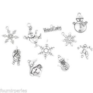 【送料無料】ネックレス ペンダントクリスマスモチーフアクセサリーセット5set mixte pendentifs breloques motif de nol cadeau accessoire 3020mm