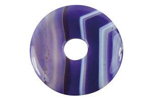 【送料無料】ネックレス ドーナツパープルスモークdonut ou pi chinois agate teinte violette 4cm