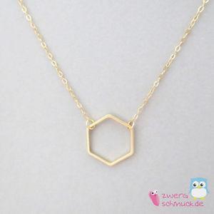 【送料無料】ネックレス クリップカルマゴールデンcollier hexagone hexagone pendentif sobre minimal karma dor