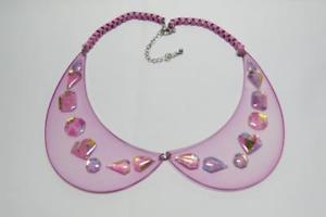 【送料無料】ネックレス カラーアクリルcg3560 joli mauve acrylique collier col