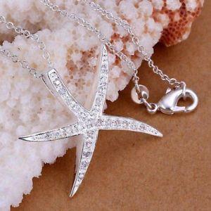 【送料無料】ネックレス スターリングクランプクリスタルプレートジュエリーas fr20991 argent plaque cristal bijoux 925 en sterling chaines colliers