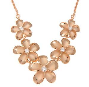 【送料無料】ネックレス ローズゴールドメッキシルバーピンクハワイアンプルメリアフラワークリップrose plaqu or rose argent 925 5 hawaen plumeria collier fleur grand