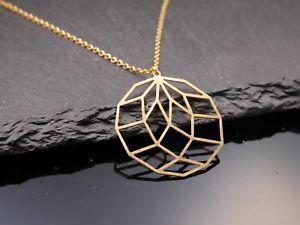 【送料無料】ネックレス チャートcollier avec cercle motif graphique moderne minimal dor