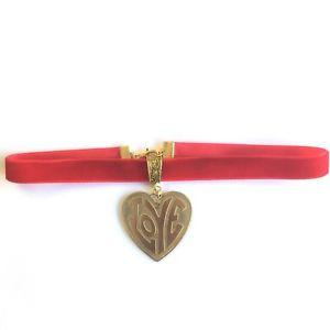 【送料無料】ネックレス ビンテージベルベットネックレトロロマンチックvintage amour pendentif velours rouge ras du cou 70s romantique rtro