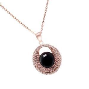 【送料無料】ネックレス モードプロトタイプローズゴールドペンダントネックレスmode charme femmes lady prototype agate rose pendentif en or collier
