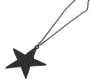 【送料無料】ネックレス ネックレスペンダントパターンチェーンcollier, pendentif motif toile et chaine noire, nouveaut