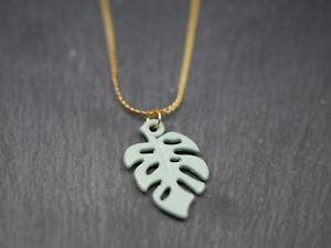 【送料無料】ネックレス シートシートターコイズカラーmagnifique collier avec feuille pendentif feuille  turquoise dor