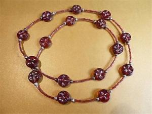 【送料無料】ネックレス ガラストーチレッドクランプhm649 iris verre rouge chalumeau collier perles