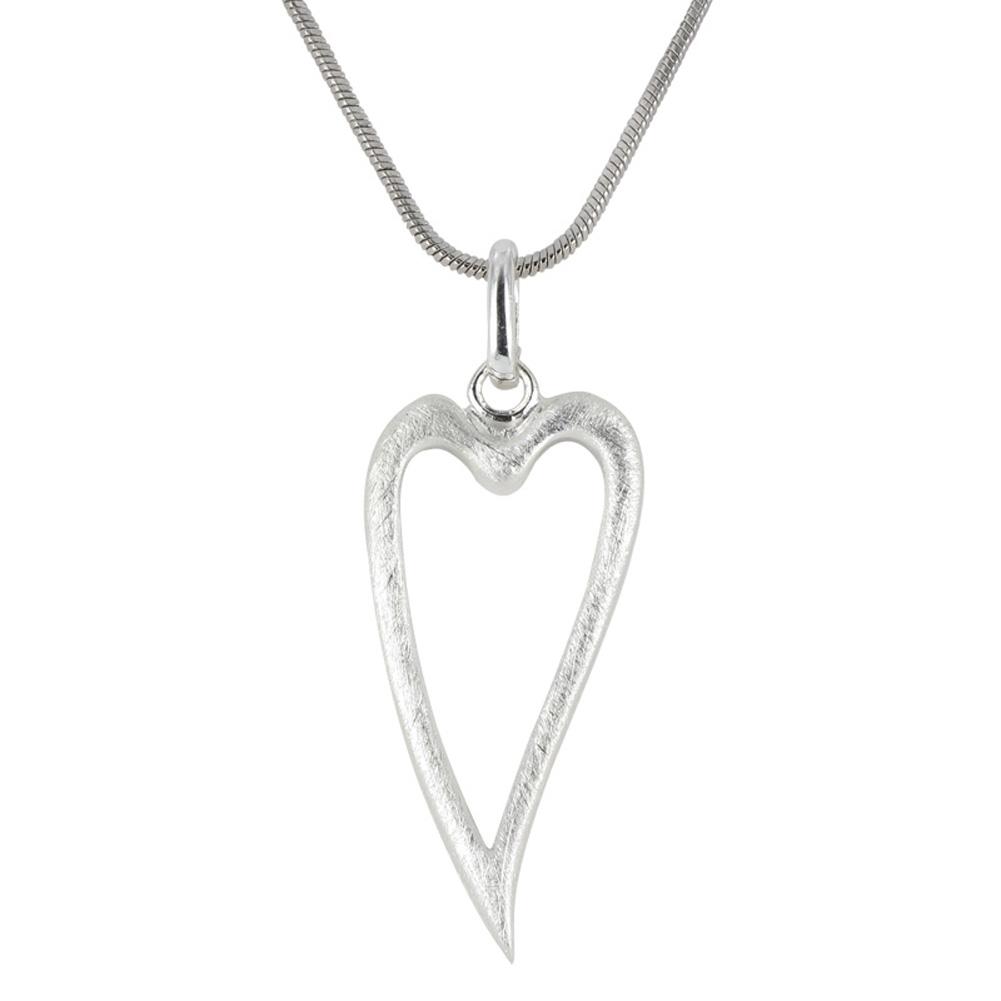 【送料無料】ネックレス ユリシルバーペンダントマッシフlily morgane pendentif argent massif bross heart en cur
