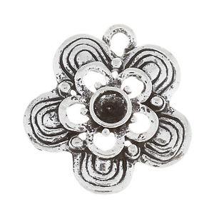 【送料無料】ネックレス ペンダントチャームフラワー150 pendentifs breloque fleur filigrane cration diy 20x19mm b30681