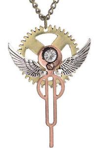 【送料無料】ネックレス ギアcollier engrenage ail couleur dor et cuivre, bijoux steampunk