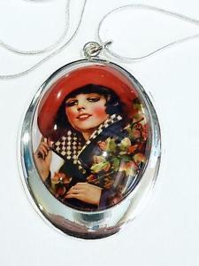 【送料無料】ネックレス ピンメッキネックレスアップplaqu argent collier avec annes 1950 pinup cg0780
