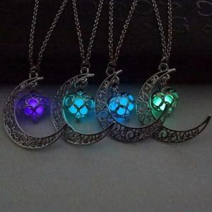 【送料無料】ネックレス ネックレスシルバージュエリークランプas fr20593 1pc lune glowing collier charm bijoux argent colliers metal pendenti