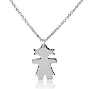 【送料無料】ネックレス スターリングシルバーネックレスargent sterling collier w petite fille pendentif