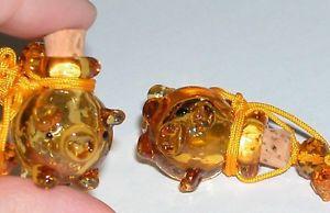 【送料無料】ネックレス クリスタルガラスブタオレンジボール1 pc boule en verre cristal ambre cochon huile essentielle parfum