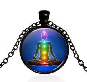 【送料無料】ネックレス ペンダントネックレスシンボルメダイヨンヨガcollier pendentif mdaillon symbole chakras, mditation, yoga