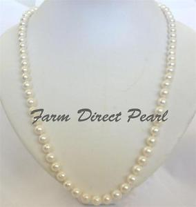 【送料無料】ネックレス ホワイトネックレスlustr 914cm long vritable 78mm blanc collier de perles culture deau douce