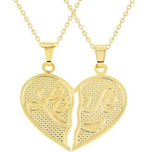 【送料無料】ネックレス ゴールドクランプトルク18k plaqu or pour lui elle coeur amour couple collier 483cm