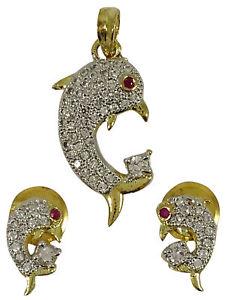 【送料無料】ネックレス ペンダントイヤリングセットトーンbeau poisson pendentif boucles d'oreilles bicolore set fte bijouxadpe6a