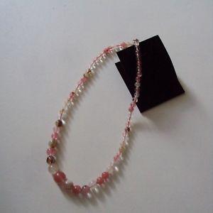 【送料無料】ネックレス スイカカラーミリセンチグラムcollier en calcdoine pastque, perles de 14 mm 6mm, 45 cm, 40 gr, neuf