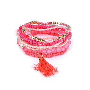 【送料無料】ネックレス アクセサリーボヘミアンビーズブレスレットタッセルclothing accessories bohemian multilayer tassel pendant bead bracelet j