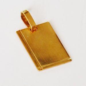 【送料無料】ネックレス ゴールドプレートbv332 * pendentif * plaque or