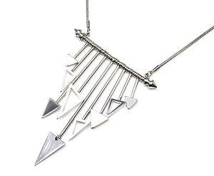 【送料無料】ネックレス ネックレスペンダントcc1666e collier plastron pendentif multibarres avec charms triangles mtal