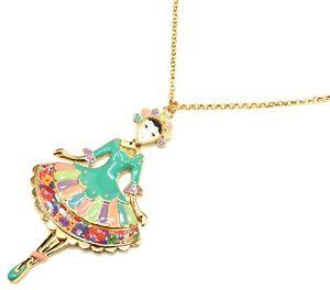 【送料無料】ネックレス ペンダントネックレスドレスsp820e sautoir collier pendentif poupe robe marquise email vert et mtal dor