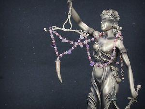 【送料無料】ネックレス クリップゴールデンユニコーンガラスパールアメジストピンクcollier court dor pendantif licorne perle verre amthyste violet rose fin qt13