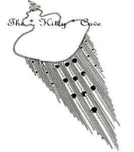 【送料無料】ネックレス ダンスレトロカスケードフリンジリドークリップethnique la danse tribal rtro frange cascade rideau pendants dtail collier bib