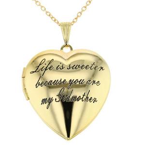 【送料無料】ネックレス メダイヨンネックレスmdaillon coeur amour godmother collier filleule pendentif 483cm