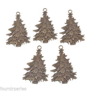 【送料無料】ネックレス ペンダントクリスマスツリーフレークアクセサリ25 pendentifs breloques arbre de nol flocons cadeau accessoire bronze68x43cm