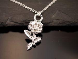 【送料無料】ネックレス ピンクエディションカラーmagnifique collier avec rose pendentif rose fleur amour edition argent