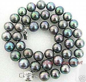 【送料無料】ネックレス ナチュラルブラッククランプ89mm, natural, noir , perles de culture,collier,45cm