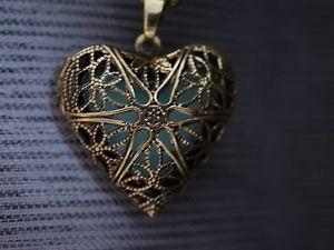 【送料無料】ネックレス クランプロマンチックハートゴールドペンダントcollier romantique cur fluorescent pendentif en or
