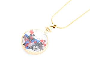 【送料無料】ネックレス ペンダントネックレスモードゴールデンcl270 * sautoir collier pendentif bouteille parfum cristaux mode femme dor