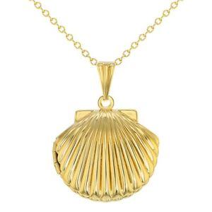 【送料無料】ネックレス ゴールデントーンシェルフォトペンダントメダイヨンネックレスton dor coquillage pendentif photo collier mdaillon femmes 483cm