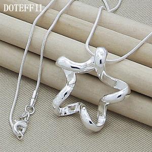 【送料無料】ネックレス シルバージュエリースターリングインチペンダントネックレスas fr24956 925 bijoux en argent sterling 18 pouces femmes colliers pendentif