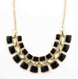 【送料無料】ネックレス ファンタジーファッションブラックcollier plastron fantaisie dor fashion noir pour femme fille tendance