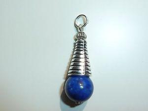 【送料無料】ネックレス ラピスラズリpendentif lapis lazuli 12cm et argent tibetain 3,8 cm