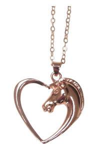 【送料無料】ネックレス ペンダントネックレスヘッドチェーンcollier pendentif acier ros tte de cheval dans coeur, chaine 40 cm