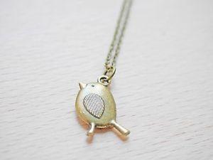 【送料無料】ネックレス アースペンダントcollier avec sweet oiseaux motif animal pendentif bronze