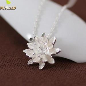 【送料無料】ネックレス シルバーロータスネックレスas fr22211 argent 925 lotus pendentif pour femmes colliers