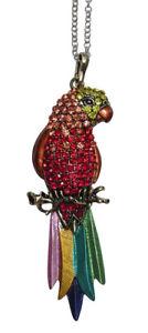 【送料無料】ネックレス ネックレスペンダントオウムcollier, pendentif motif perroquet strass cristal multicolore, e5