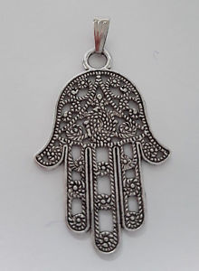 【送料無料】ネックレス クリエイションステンレススチールハンドペンダントagnes creations pendentif main de fatma en acier inoxydable vieilli