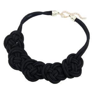 【送料無料】ネックレス ファブリックノードブラックカラーsm fr43327 noeud tissu declaration col collier noir