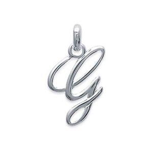 【送料無料】ネックレス シルバーペンダントクラシックpendentif initiale g classique en argent 925 neuf