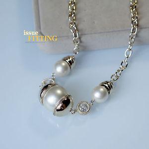 【送料無料】ネックレス クリップゴールデンチェーンガラスパールファッションクラスcollier chaine dor perle verre fashion class artisannal qt 2